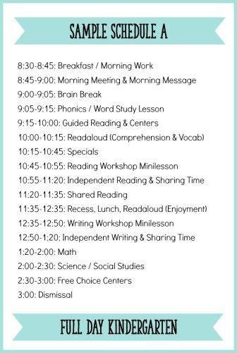 1000+ ideas about Kindergarten Daily Schedules on Pinterest ...