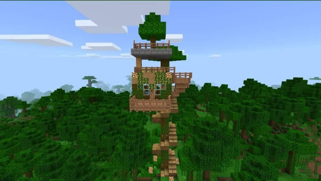 🌴Jungle Treehouse Build🌴 | Minecraft Amino
