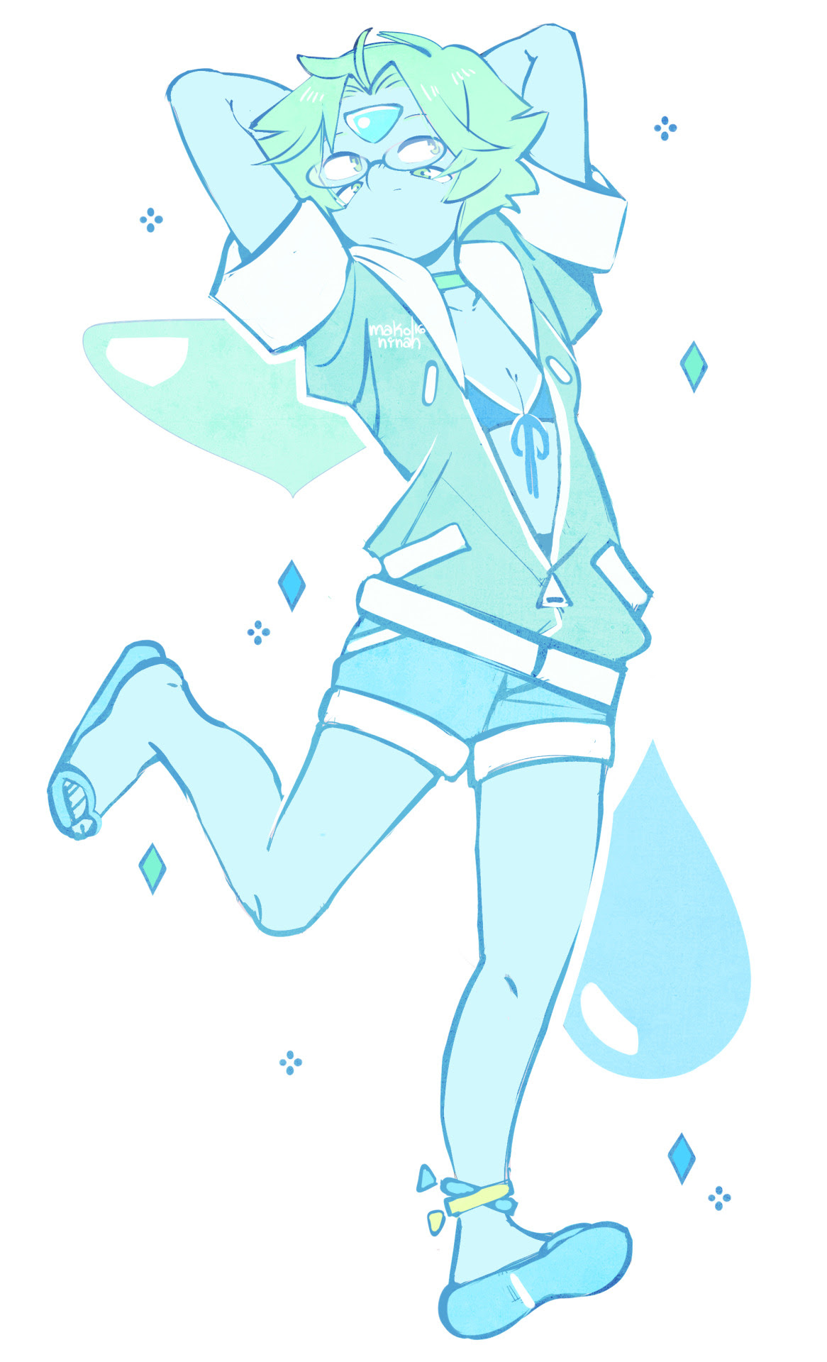 some type of pastel, happy lapidot fusion before the new ep ✧