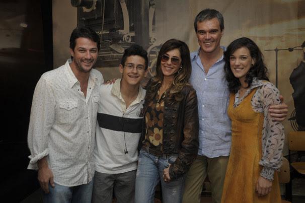 Marcelo Serrado, Davi Lucas, Christiane Torloni, Dalton Vigh e Adriana Birolli (Foto: TV Globo/Renato Rocha Miranda)