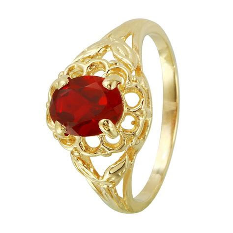 Fashion Strada Created Ruby 14K Yellow Gold Ring View All