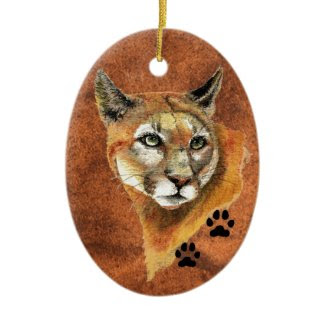 Cougar Christmas Ornament ornament