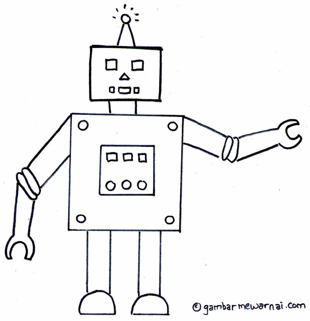 Gambar  Mewarnai  Robot  Gambar  Mewarnai