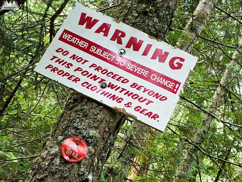 Alpine Zone Warnings
