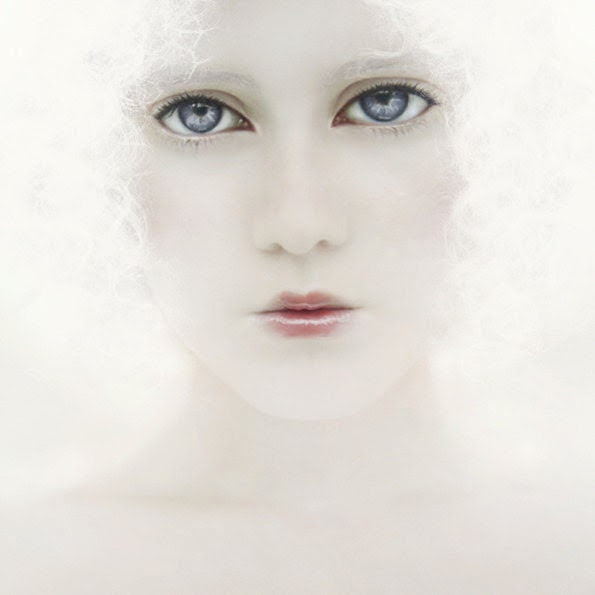 Ethereal Portrait Woman Portrait Woman Photography Dreamy White Pink Blue eyes - MOONGARDENART