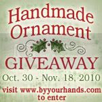 Handmade Ornament Giveaway
