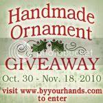 Handmade Ornament Giveaway