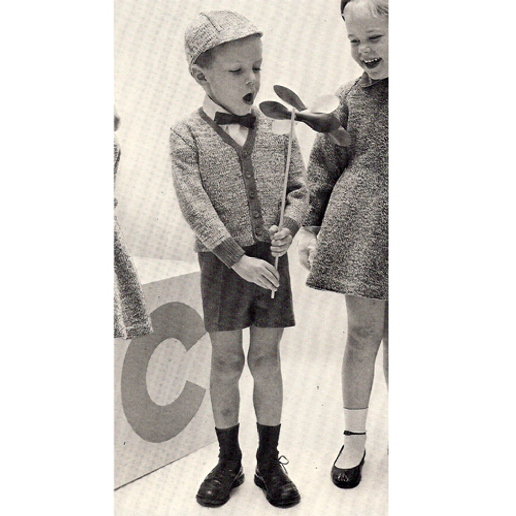 Childs Knitted Cardigan pattern, vintage Columbia Minerva