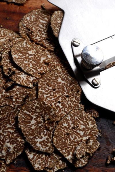 sliced black truffle
