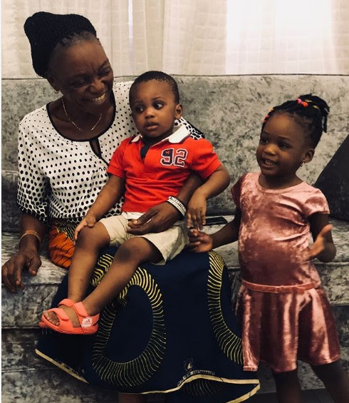Delightful Pictures Of Ubi Franklin's Mother With His Son And Daughter