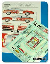 Calcas 1/24 Renaissance Models - Toyota Celica GT Four ST165 Group A Bastos - Nº 1, 10 - P. Snijers + D. Colenbunders - Rally de Montecarlo + Condroz 1989 para kit de Aoshima AOSH-081198