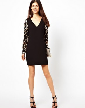 Image 4 of Warehouse Deco Sequin Shift Dress
