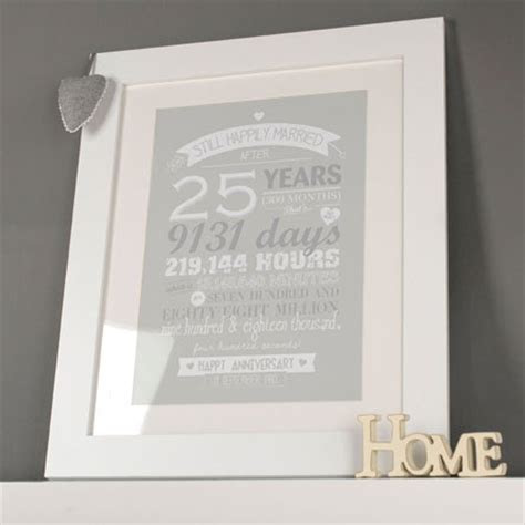 25th Silver Wedding Anniversary Gifts   GettingPersonal.co.uk