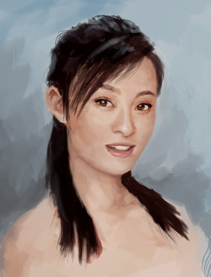 painting asian woman portrait