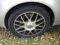 Flat tire on Audi