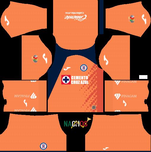 Cruz Azul 2019 2020 Kits for DLS Dream League Soccer - Nachos MX OFFICIAL DLS