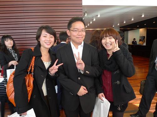 With Liu Jin and Zhang Qi at Eibunren awards