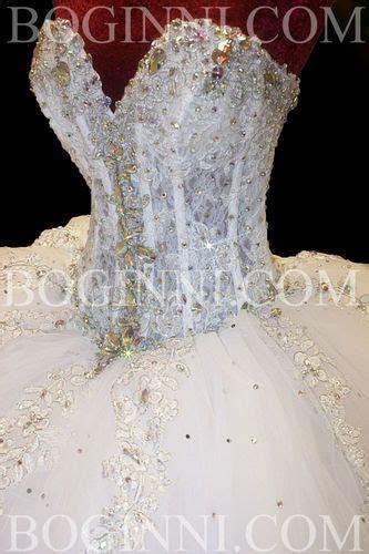 boginni custom  white lace crystal corset cm