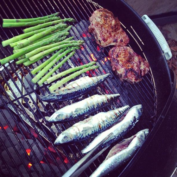 mackerel, asparagus. #itdoesntgetbetterthanthis