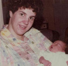 Mom and Me as a Newborn