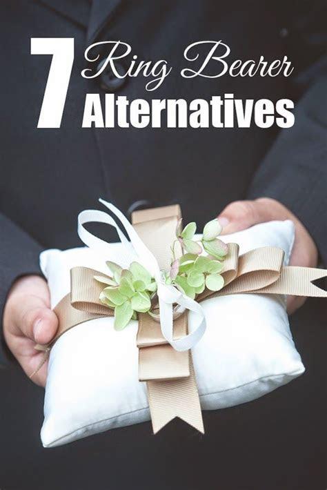 7 Wedding Ring Bearer Pillow Alternatives   wedding