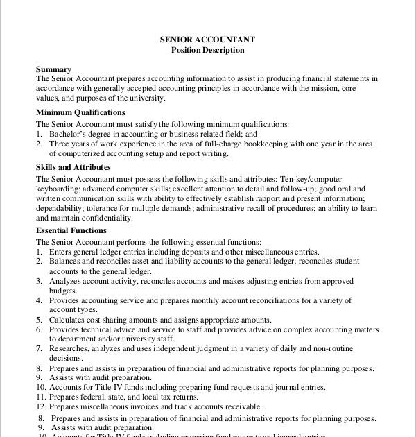 Contoh Job Description Accounting Temblor En