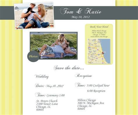 Chicago wedding websites ? yellow wedding website design