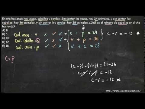 Planteamiento de Sistemas de Ecuaciones - Planteo de Problemas « Blog del  Profe Alex adeeccb5f8c