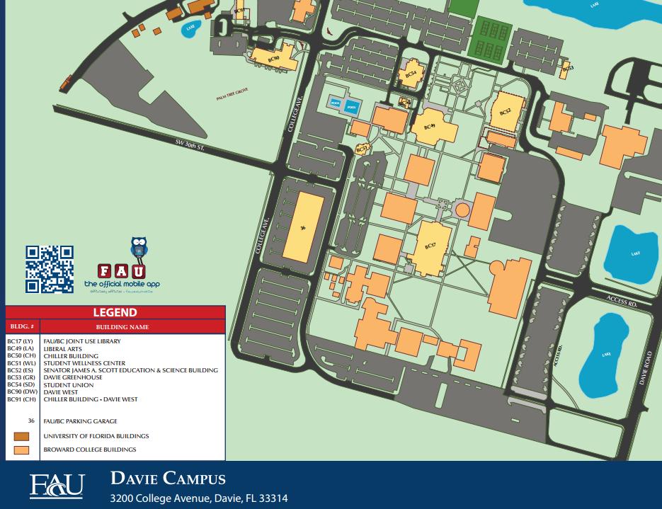 Broward College North Campus Map