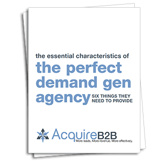 RT @AcquireB2B: B2B Demand Generation Agency Selection Guide https://t.co/Mj0BCy3oNv (registration required) #demandgen #leadgen #CMO https://t.co/qPVxw185Pp