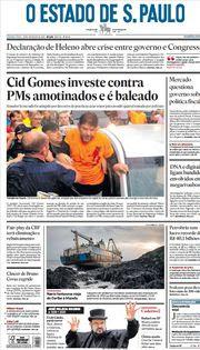 Capa do Jornal O Estado de S. Paulo Edição 2020-02-20