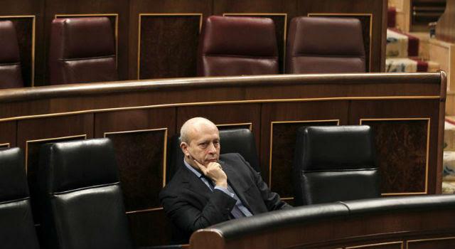 El ministro de Educación, José Ignacio Wert, esta mañana, en el Congreso. EFE/Paco Campos