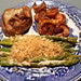 Cajun Shrimp, Asparagus with Cheese and crumbs