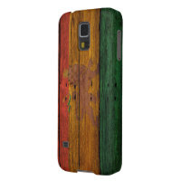 reggae lion crest on wood texture galaxy s5 covers