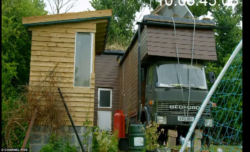 The horsebox was extended for £2,000 to give them some additional living space