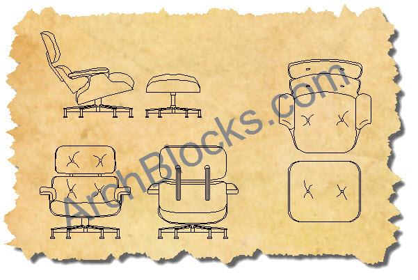 Modern and Mid-Century Modern CAD Symbols