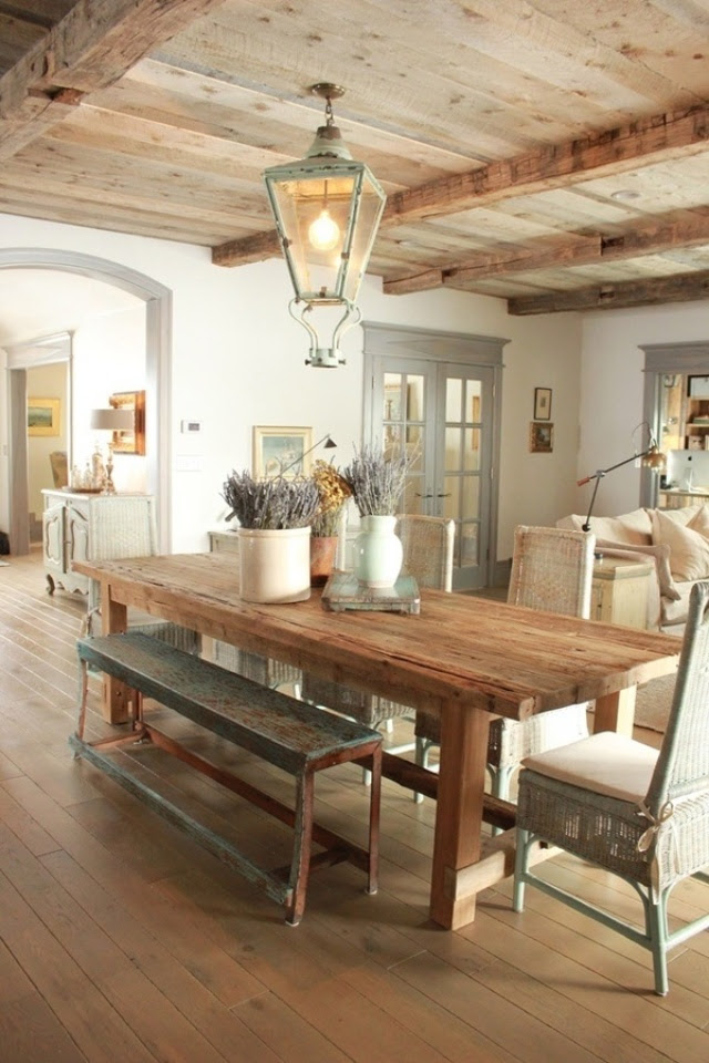 Dining room table. Rustic elegance | Home pinboard