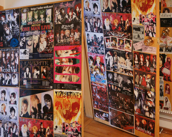 MY GOTHIC LOLITA BEDROOM: DIY GOTH HOME DECOR, VISUAL KEI JROCK POSTERS.  L