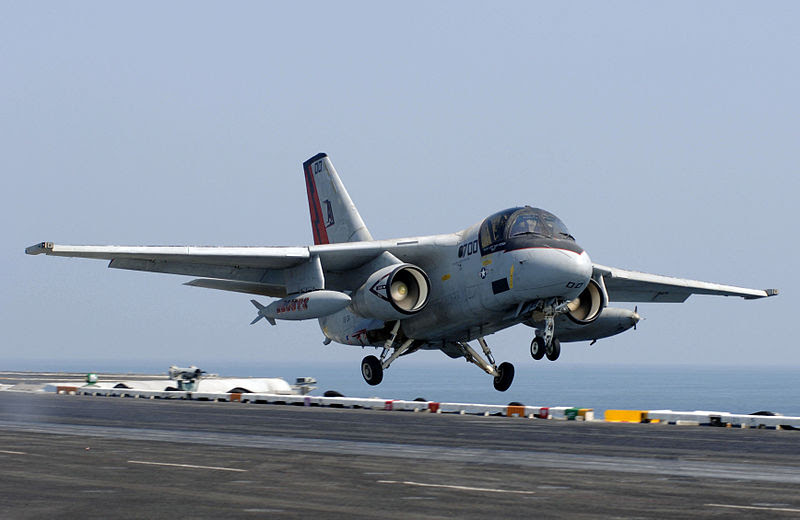 File:S-3B Viking launched off the flight deck of the USS Theodore Roosevel.jpg