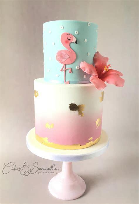 Flamingo Cake   cake by Cakes By Samantha (Greece