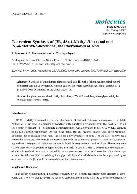 convenient synthesis     methyl  hexanol