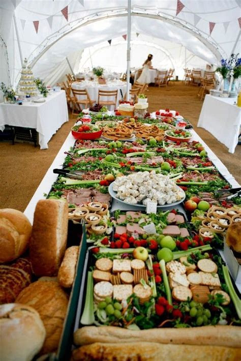 If your reception is around lunchtime, set up a sandwich