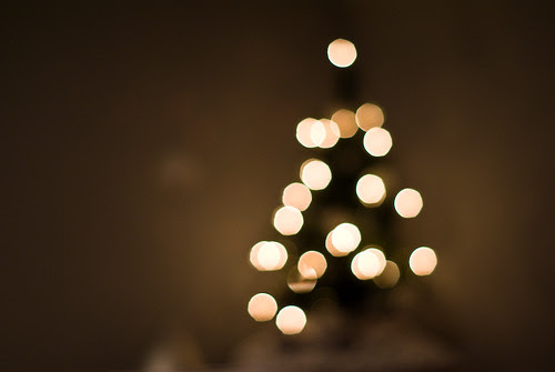 christmas bokeh tree