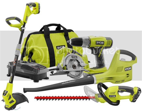 Ryobi Tools $436 Prize Package, ends 6/14