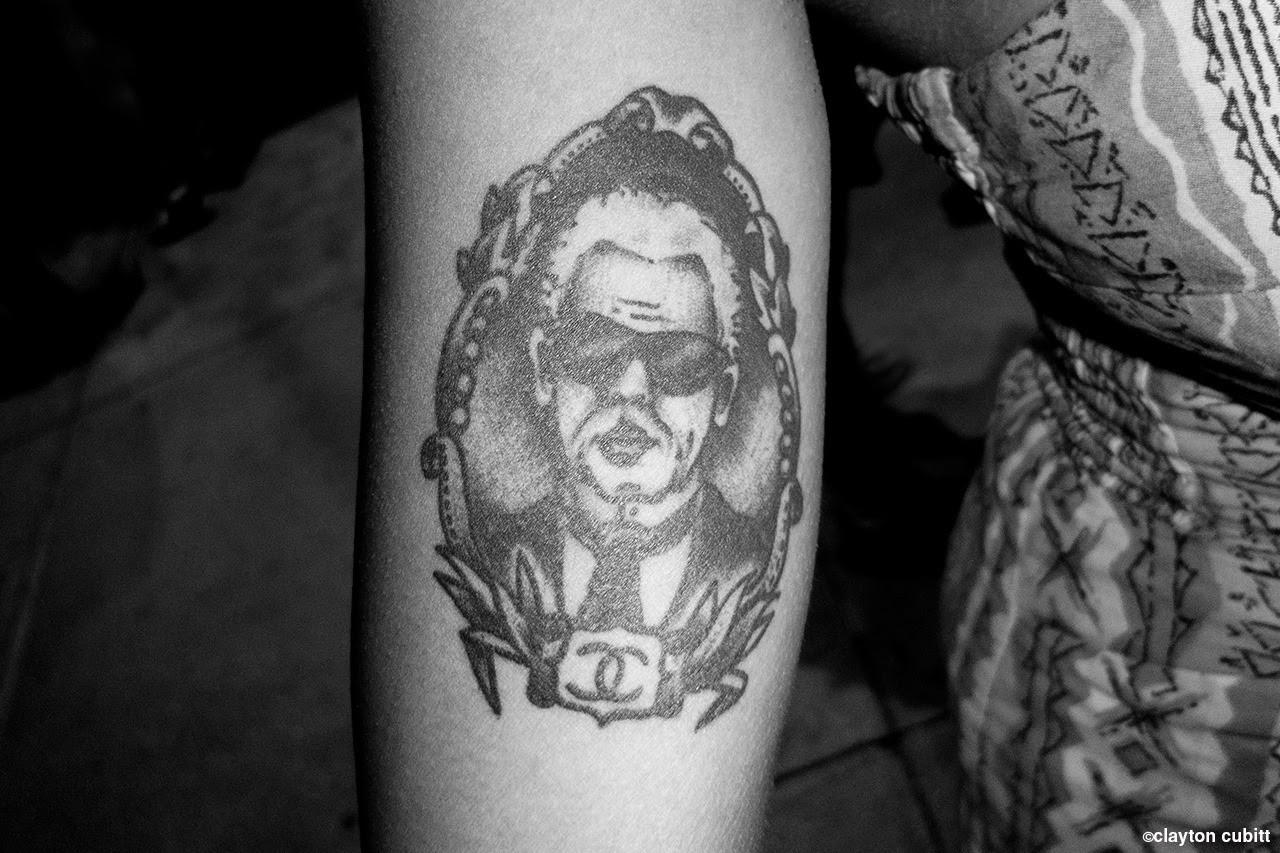 Karl Lagerfeld Chanel tattoo, NYC  (2284)