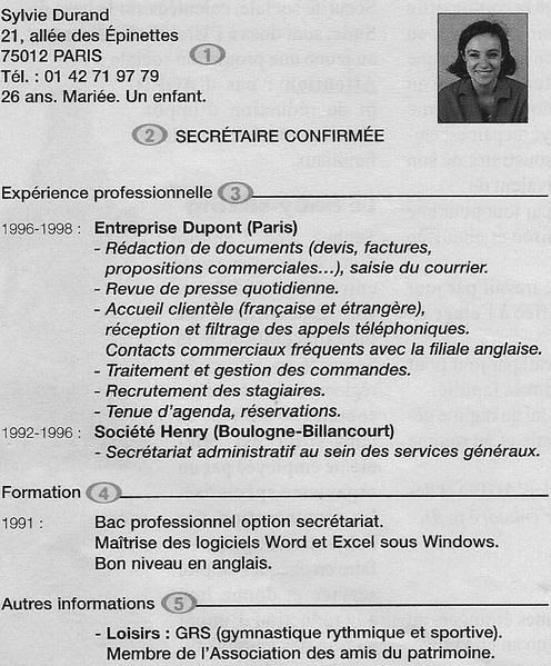 resume format  cv enseignant primaire