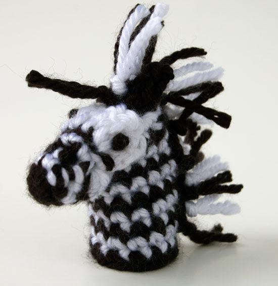 free crochet pattern zebra jungle lion monkey tarzan toy child finger puppet