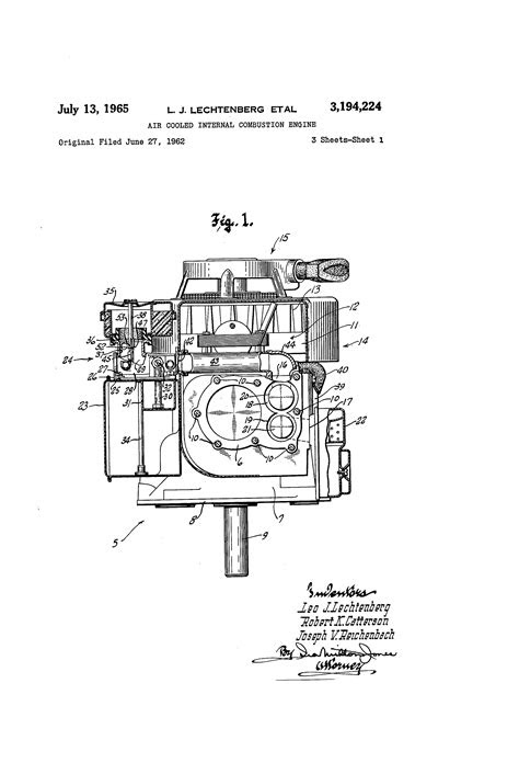 Patent US3194224 - Air cooled internal combustion engine