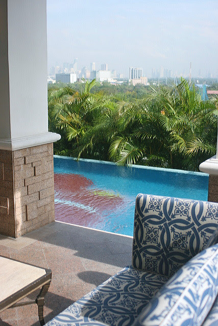 Each of the three villas have their own little pool
