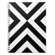 Black and White Chevrons notebook